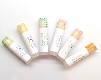 6-Pack Mom's Dad's Grad's Gift Pack Lip Balm Wholesale Lip Products Gift Set Lip balm Set Essential Oil Vegan Plant Wax Avocado Sweet Almond