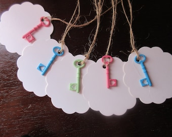 Their enameled key fobs and key COLLECTION: 5 labels