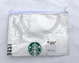 Eco Friendly Change Purse or Wallet made with Recycled Coffee bags repurposed