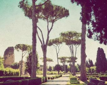 Italy photograph, Rome art, fine art photography, travel photo, landscape, retro photography - Canopies