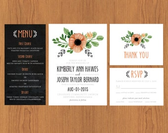 Rustic Wedding Stationary Set
