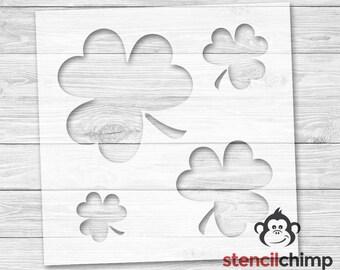 3 Leaf Clover Shamrock Stencil - St. Patrick's Day Stencil | DIY Art Stencil