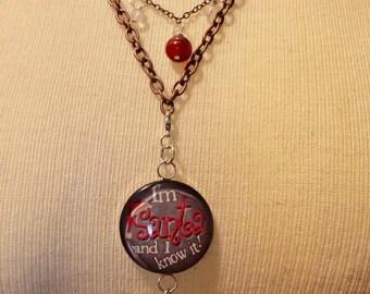 Christmas Lolita, Victorian, Mori girl necklace