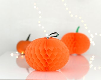 Pumpkin honeycomb decoration / hanging decoration / halloween / party decorations / wedding decorations / backdropp