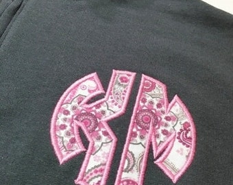 Monogram Sweatshirt, Quarter Zip Monogram Sweatshirt, Appliqué Sweatshirt