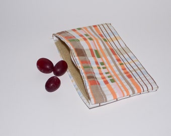 Reusable Snack Size Bag RECYCLED FABRIC