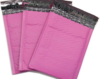 250 #0 Pink Poly Bubble Mailer Shipping Padded Envelope Bags