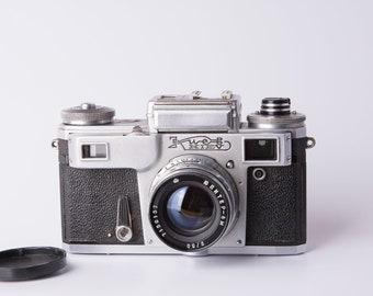 Киев Kiev - 4, KIEV 4M Russian 35mm Film Contax Copy Rangefinder RF Camera + Jupiter 8 lens