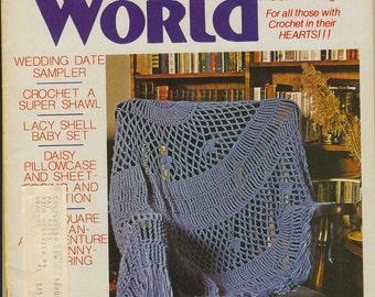 Crochet World Magazine - June 1980, Vintage Magazine, Crochet World, Crochet Magazine, Crochet Patterns