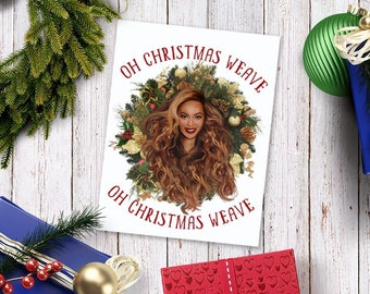 Bey Christmas Card - with glitter! Diva holiday
