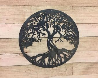 Metal Tree of Life Steel Wall Garden Art Sign