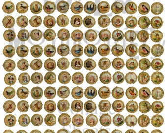 Funky Circles Digital Download Collage Sheet