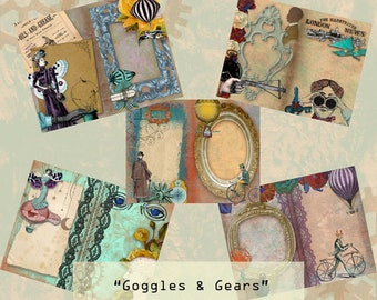 Goggles and Gears Steampunk Digital Journal Printables