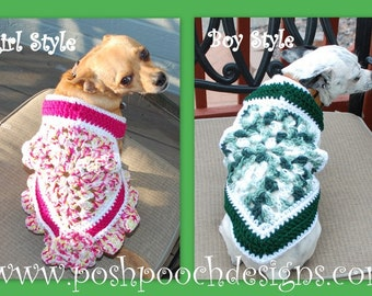 Instant Download Crochet Pattern - Summer Dog Sweater Vest - Small Dog Sweater