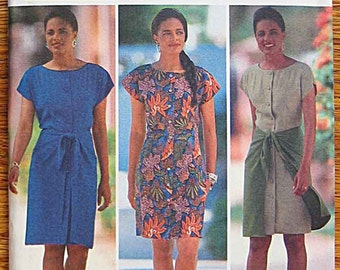 RARE Misses' Dress With or Without Overskirt, Essence Collection Butterick 5438 Sewing Pattern UNCUT Sizes 6, 8, 10, 12