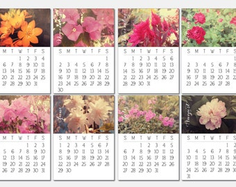 2018 Floral Calendar - Desk Calendar, Comb Bound, Wall Calendar, or Single Pages