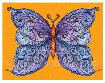 The Cosmic Purple Butterfly Miniprint