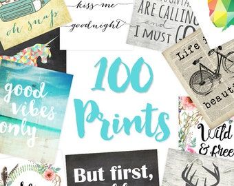 Printable Downloads (Set of 100 8x10s) Printable Inspirational, Printable Quote Art, Printable Artwork, Printable Art Print, Printable Decor
