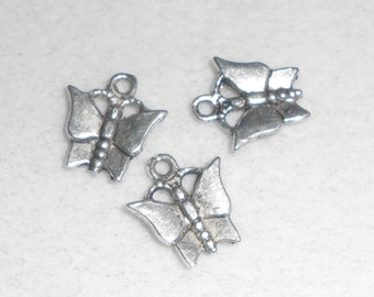 Silver Butterfly Charms