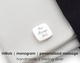 Custom Sterling Silver cufflinks,Silver Cufflinks,Engraved cufflinks,Groom Cufflinks,Mens cufflinks,Wedding Cufflinks,Husband Gift,Bitcoin