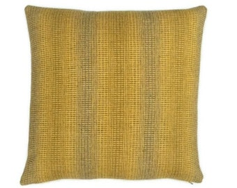 """Maharam Wool Striae - saffron - pillow (both sides) 17"""" x 17"""" feather insert included"""