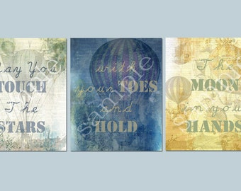 "Set of 3 *8x10 Digital prints ""May You Touch The Stars with your Toes and Hold The Moon in your Hands"""