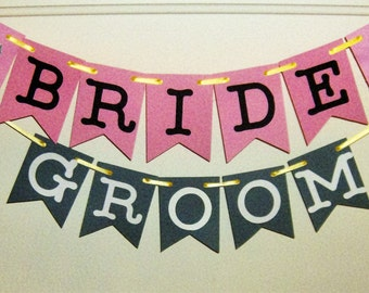 Bride and Groom Banner, Wedding Signs, Wedding, Wedding Decor, Bride and Groom, Bride, Groom