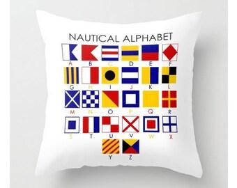Nautical Alphabet #Pillow