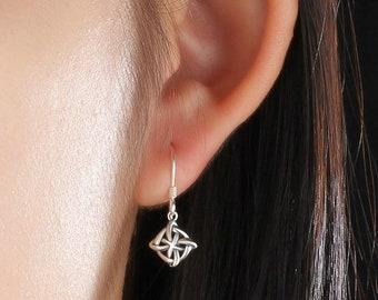 Celtic Knot Earrings Sterling Silver For Women