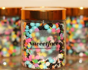 Downtown Roller Rink by Sweetface -  Sprinkle Mix, Cake Decorating, Edible Sprinkles, Cup Cake Sprinkles