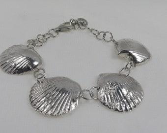Silver PMC Shell Bracelet