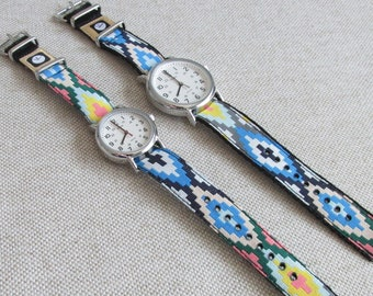 NEW! Southwest Geometric Watch Strap, 16mm or 20mm Watch Band for Timex Weekender Watch, Band Only, Replacement Strap in 2 Widths