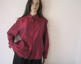 True vintage 80s Betty Barclay blouse 100% silk S-m