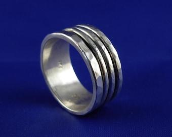 Dual Spinning Silver Ring - ElenadE