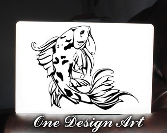 Japanese Koi Fish Nature Pond Laptop computer decal Macbook Notebook Children Adell Asus Hp Mac sticker Y119