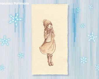 "Original folding Card ""faith"" (pattern)"
