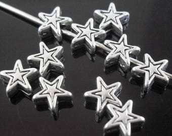 Pearl stars in antique silver (x 20)