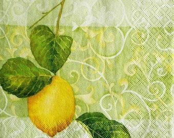 TOWEL in beautiful paper #AL003 lemon
