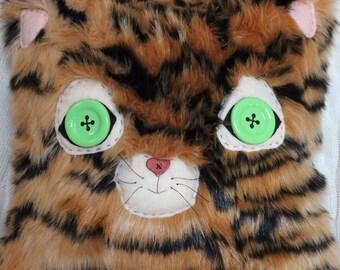 Tiger Pillow - Stuffed Tiger - Kids - Reversible Fur Pillow - Stuffed Animal Pillow - Toddler Pillow