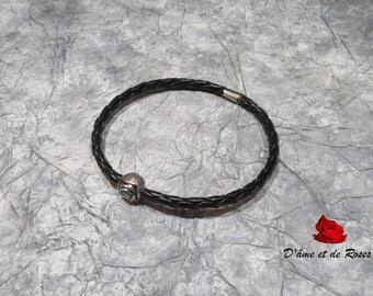 1 pink metal man bracelet