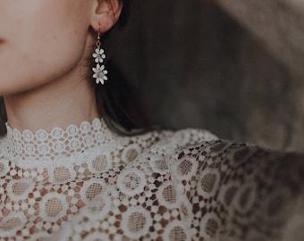 Sweet daisy drop earrings, #1620