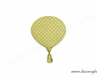 Hot air balloon old (about 1790 helium balloon), made of medium size 5cm