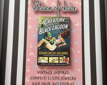 Creature from the black lagoon brooch
