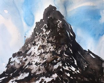 Original Watercolor Painting  | Landscape painting |  Watercolor painting |Original painting | Original art | Wall decor | Art | Mountains