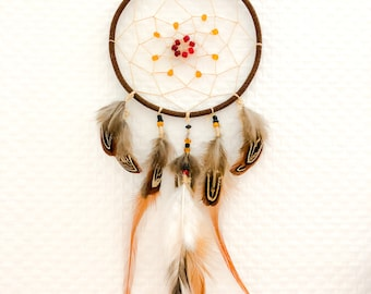 Dream catcher nature, natural feathers Colchides