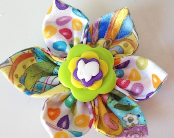Easter Bunny Collar Flower for Girl Dogs & Cats