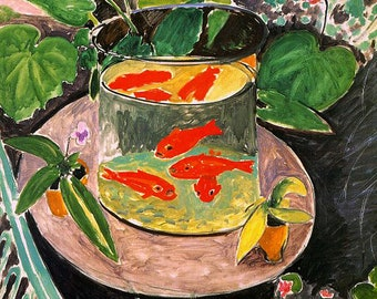 The Goldfish by Henri Matisse mono deluxe Needlepoint Canvas