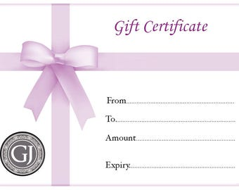 Gift Card Gift Certificate - You can print or email Last Minute Gift for Holiday Stocking Engagement Birthday Anniversary Wedding