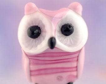 Bliss.. lampwork owl  bead............ sra