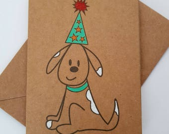 Handmade Dog Celebration Card